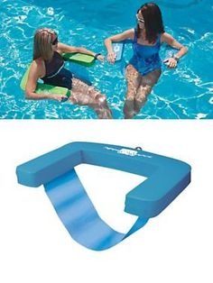 "Aqua Swing - Stay cool in the pool and keep your hair dry with Aqua Swing. Comfortable pool ""lounge chair"" lets you sit upright while floating in the pool. Summer Fun, Hello Summer, Summer Pool, My Pool, Pool Fun, Lampe Retro, Pool Floats, Lake Floats, Pool Toys"
