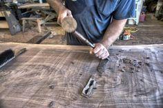 David Stine, wood worker, in his shop on his farm in Dow, IL., August 26, 2015. ©Mannie Garcia 2015