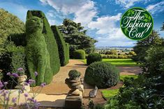 The Topiary Cat visits Ascott House by Rich Saunders