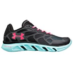 Under Armour® Spine Venom Running Shoe #VonMaur #UnderArmour #Black #Blue #Activewear