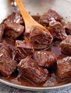Steak Tips with Red Wine Sauce