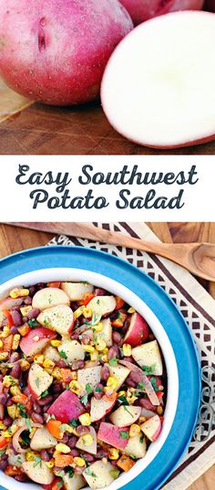 Utah is about big views and big flavor. Just take in the sight of this Easy Southwest Potato Salad. Large dice those taters and create a few tasty monuments of your own. And this delicious destination is only thirty minutes away. Perfect for that packed lunch, as an exciting vegetarian taco filling, or as a flavorful topping to any salad.