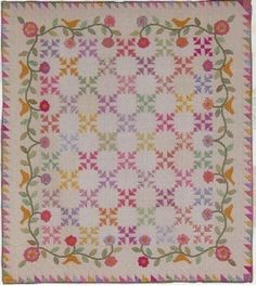 """Old Fashioned Charm by the Rabbit Factory    64""""x 74"""" link is labeled suspicious - wish I had more info, this quilt is so cute!"""
