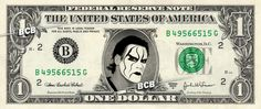 STING Wrestler WWE on REAL Dollar Bill Cash Money Bank Note Currency Dinero