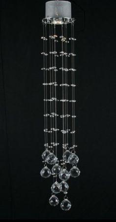 Gallery T40-225 Clear Modern Modern 1 Light 1 Tier Crystal Mini Chandelier with Clear Crystals