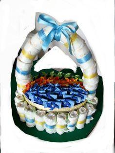 Diaper basket con sacchetti in feltro ♣