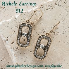 Nichole Earrings Plunder Design. Vintage Jewelry. Savvy Prices.   www.plunderdesign.com/simplycolie  Join me on Facebook- https://www.facebook.com/SimplyColie-Jewelry-Stylist-188548031659112 www.pinterest.com/coliejewelry