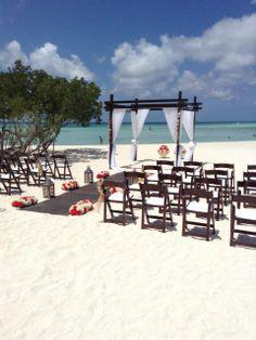 Rustic Wedding on the beach in Aruba- The Ritz Carlton