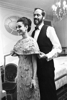 """Audrey Hepburn and Mel Ferrer before the French premiere of """"My Fair Lady"""" in 1964."""