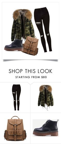 """""""Military"""" by dahn-pahn on Polyvore featuring мода и Topshop"""