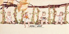 Loni Smith Photography - Utah whimsical children photography, Gardner quadruplets, quad squad, multiples