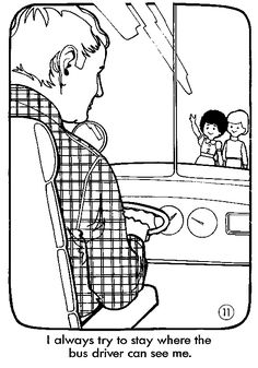 School Bus Safety Coloring Pages … | Teaching Stuff ...