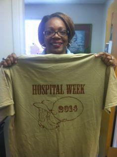 Western themed Hospital Week shirts.