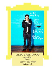 Alec Lightwood: nephilim, oldest child of Maryse and Robert Lightwood