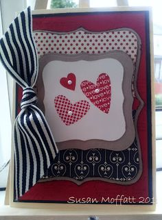 Stampin Up Valentine's card