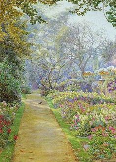 ❀ Blooming Brushwork ❀ - garden and still life flower paintings - Beatrice Parsons | Garden Path