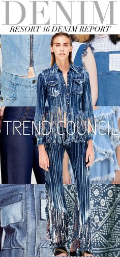 Trend Council is a fashion trend forecasting company who delivers expert analysis and design inspirations. Their team provides a great wealth of consulting services for all your company's design needs Denim Fashion, Love Fashion, Runway Fashion, Womens Fashion, Trends 2016, 2016 Fashion Trends, Summer Trends, Fashion Colours, Colorful Fashion