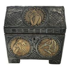 5d6b2cf27ef Late 19th Century Antique Alfred Daguet Gothic Style Repoussé Document Box