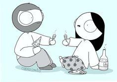 I love you. Cute Couple Comics, Couples Comics, Love You The Most, My Love, Catana Chetwynd, Jm Storm Quotes, Catana Comics, Anime Muslim, Cute Love Cartoons