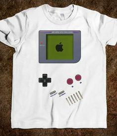 funny cute classic retro gameboy kids tee tshirt #Tee #Tshirt #Kids #etsy #redbubble #skreened #Nintendo #GameController #MineCraft #GameBoy #GameWatch
