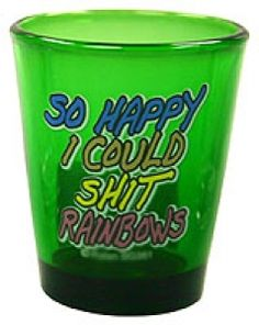 $2.99 Funny Shot Glasses, Beach Babe, I Am Happy, Shots, Rainbow, Collections, How To Make, Im Happy, Rain Bow