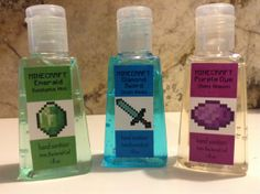 3 Minecraft Themed Anti-bacterial Hand Sanitizers - Party Favors or School Supplies