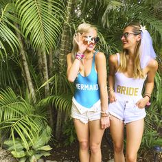 Matching mermaid bride one piece swimsuits: www. Nautical Bachelorette, Bachelorette Party Planning, Bachlorette Party, Mermaid Gifts, Party Photography, Wedding Bridesmaids, Just In Case, One Piece, Wedding Beach