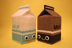 crochet milk carton by Nicole Gastonguay