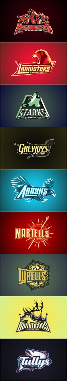 Game of Thrones Logo's by Yvan Degtyariov, amazing.