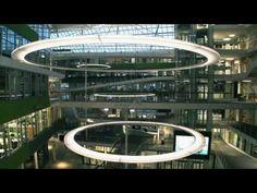Unilever Headquarters with Nimbus LED.next luminaires; Unilever on Behnisch Architekten Website: http://behnisch.com/work/projects/0344