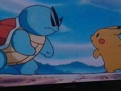 Squrtile vs. Pikachu