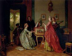 Jean Carolus (1814-1897) The Recital