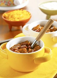 Slow Cooker Chipotle Chili – Stew meat, red beans and chili powder-seasoned picante simmer all day together to make this hearty and delicious chili. It's a great recipe for weeknight dinners or weekend parties!
