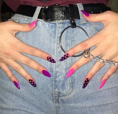 127 awesome acrylic coffin nails designs in summer -page 11 > Homemytri.Com – Cute Long Nails Edgy Nails, Aycrlic Nails, Grunge Nails, Funky Nails, Stylish Nails, Swag Nails, Coffin Nails, Glitter Nails, Edgy Nail Art