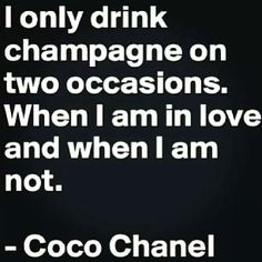 I only drink #champagne on...
