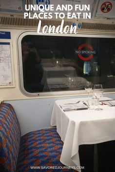 These fun restaurants in London promise a unique experience you won't find anywhere else Bar Restaurant Design, Cool Restaurant, Restaurant Concept, Unique Restaurants London, Fun Restaurants, London Food, Old London, London Eye, London Underground Train