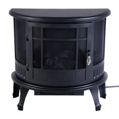1500W Fireplace Heater Fire Free Standing Electric  Flame Stove Wood Adjustable #Unbranded