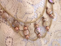 16 Choker in gold and copper tones by CEOriginals on Etsy, $47.00