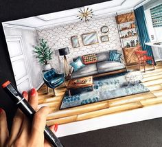 Interesting Find A Career In Architecture Ideas. Admirable Find A Career In Architecture Ideas. Interior Architecture Drawing, Interior Design Renderings, Architecture Concept Drawings, Drawing Interior, Interior Rendering, Interior Sketch, Interior Design Sketchbooks, Architecture Portfolio, Architecture Design