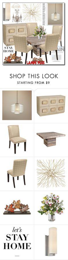 """lampsplus 30/30"" by sabinn ❤ liked on Polyvore featuring interior, interiors, interior design, home, home decor, interior decorating, Possini Euro Design, Blossom Bucket, WALL and Sonneman"