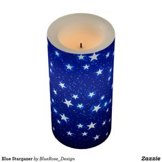 Blue Stargazer Flameless Candle Holiday Cards, Christmas Cards, Christmas Decorations, Flameless Candles, Pillar Candles, Stargazer, Christmas Items, Holiday Outfits, Holiday Treats