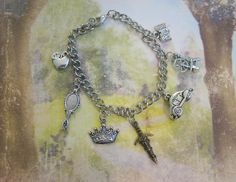 ONCE UPON A Time Inspired Charm Bracelet  Henry's by ZivaKreations, $19.00