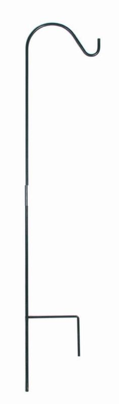"""Free 2-day shipping on qualified orders over $35. Buy Panacea 89034 Single Shepherd Hook, 48"""" H, Black at Walmart.com Bird Feeder Poles, Wild Bird Feeders, Planter Boxes, Hanging Planters, Shepherds Hook, Garden Lanterns, Yard Landscaping, Lawn And Garden, Decorative Objects"""
