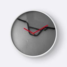 'Handlebars' Clock by MsSexyBetsy Artsy Fartsy, Promotion, Clock, Stuff To Buy, Watch, Clocks