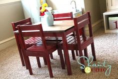 kids craft table and chairs | DIY kid table and chairs. lots of other cute projects