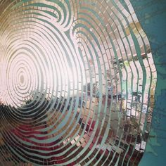 tree rings / reflective tape / new work in progress.... cheryl sorg fine art - bookworks, custom thumbprint portraits and more