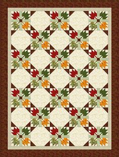 Free Quilt Patterns for Beginning to Experienced Quilters: Choose Fall Colors to Sew an Autumn Leaves Quilt