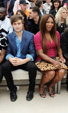 Douglas Booth and Serena Williams