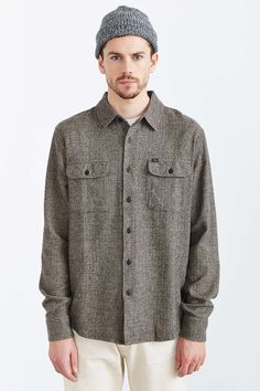OBEY Hayward Flannel Woven Button-Down Shirt