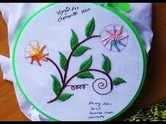 Hand Embroidery Designs # 127 - Chemanthy Flower designs - YouTube